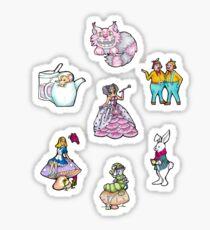 Alice in Wonderland characters Sticker
