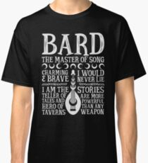 BARD, THE MASTER OF SONG - Dungeons & Dragons (White) Classic T-Shirt