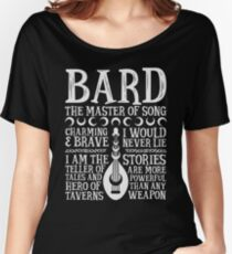 BARD, THE MASTER OF SONG - Dungeons & Dragons (White) Women's Relaxed Fit T-Shirt