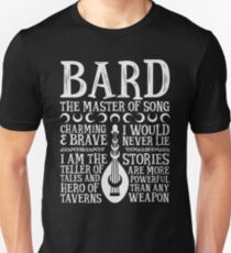 BARD, THE MASTER OF SONG - Dungeons & Dragons (White) T-Shirt