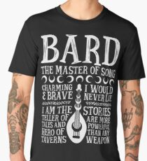 BARD, THE MASTER OF SONG - Dungeons & Dragons (White) Men's Premium T-Shirt