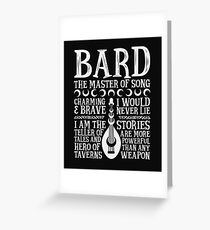 BARD, THE MASTER OF SONG - Dungeons & Dragons (White) Greeting Card