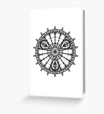 Skull Mandala Pattern Greeting Card