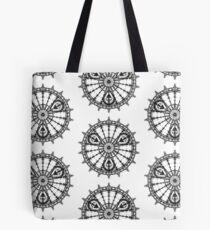 Skull Mandala Pattern Tote Bag