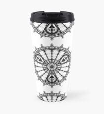 Skull Mandala Pattern Travel Mug
