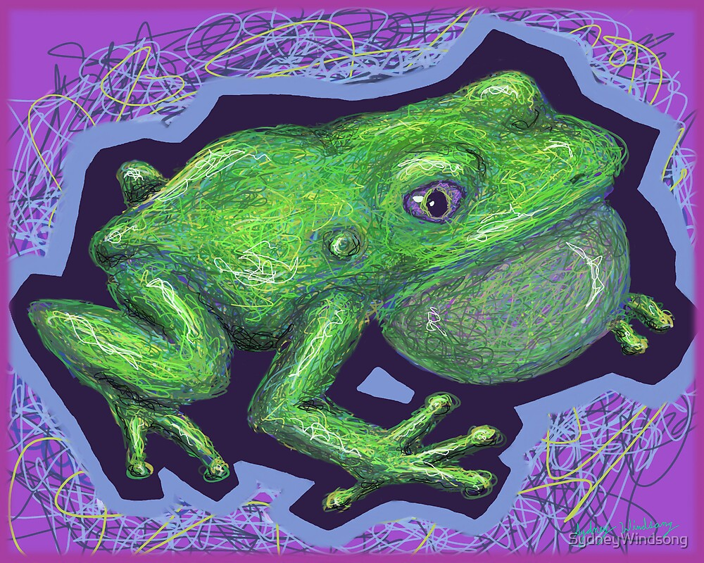 Scribble Frog by SydneyWindsong
