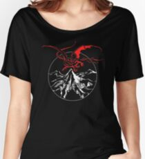 Runestone Lonely Mountain and Smaug Women's Relaxed Fit T-Shirt