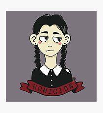 Wednesday Addams Homicide  Photographic Print