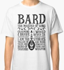 BARD, THE MASTER OF SONG - Dungeons & Dragons (Black) Classic T-Shirt