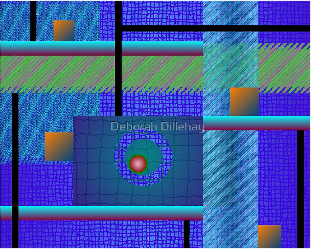 Blue Rectangles and a Red Dot by Deborah McCormick