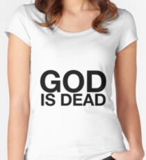 god is dead Women's Fitted Scoop T-Shirt