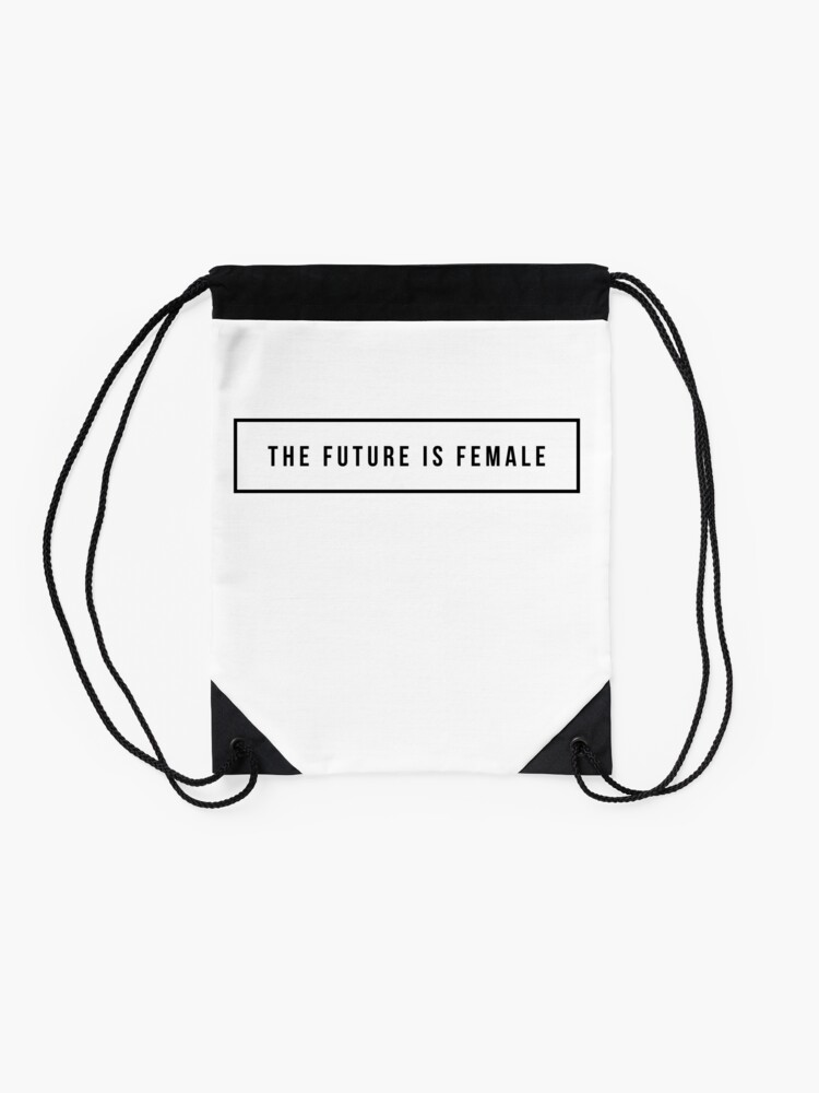 Alternate view of The future is female Drawstring Bag