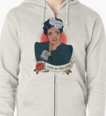 Billie Holiday Zipped Hoodie