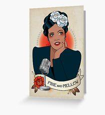 Billie Holiday Greeting Card
