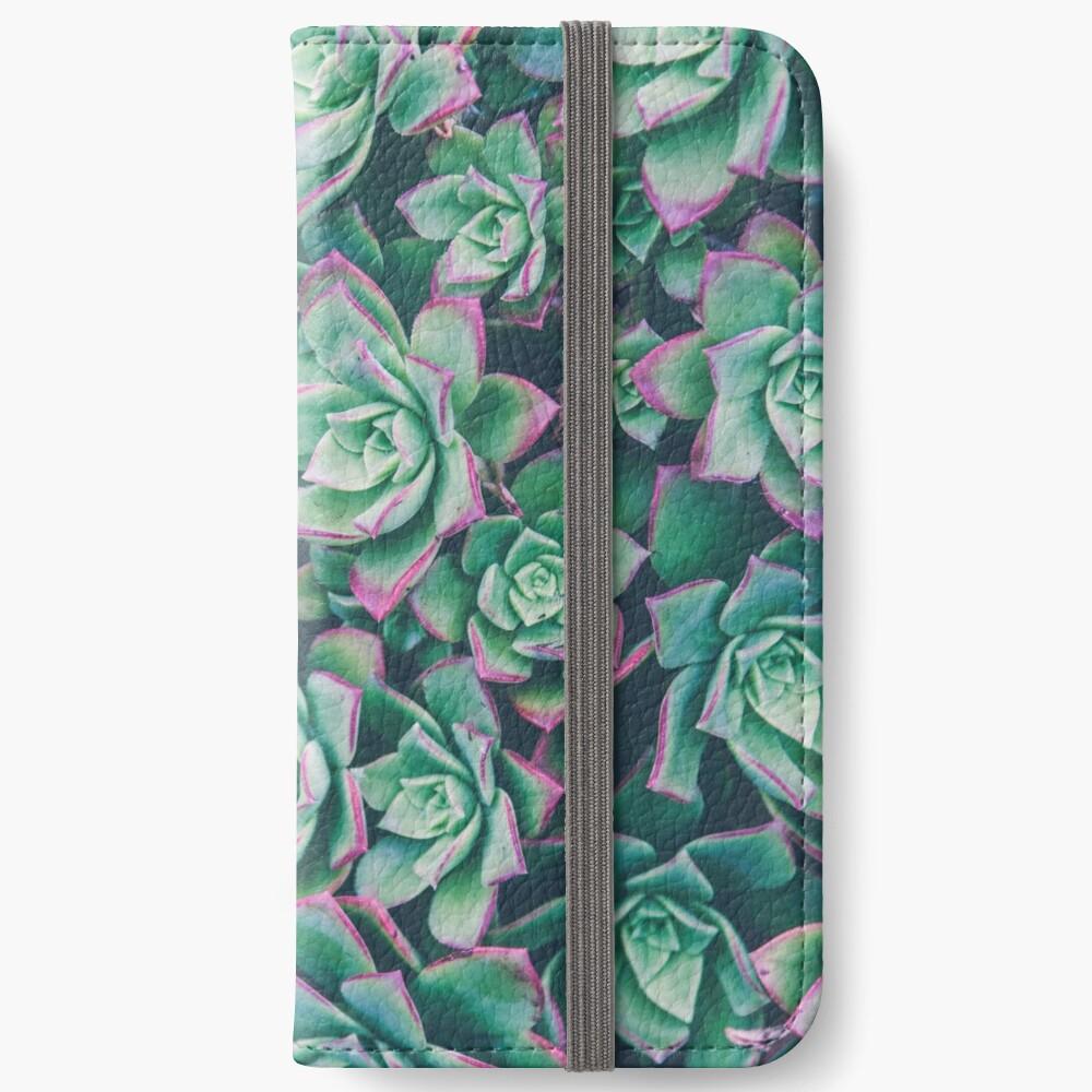 succulent garden iPhone Wallet