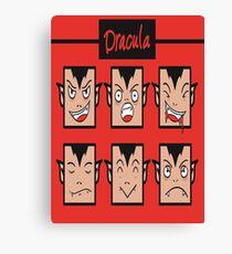 Dracula Faces! Canvas Print