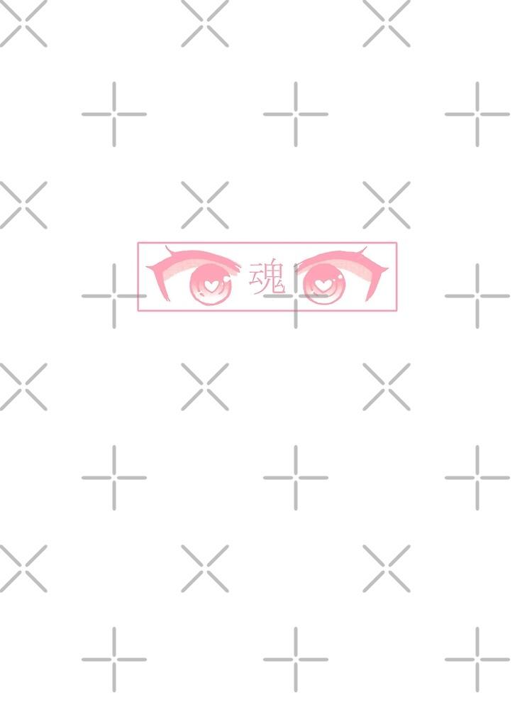 HERZ-AUGEN (ROSA PASTELL) - trauriges japanisches ästhetisches von PoserBoy