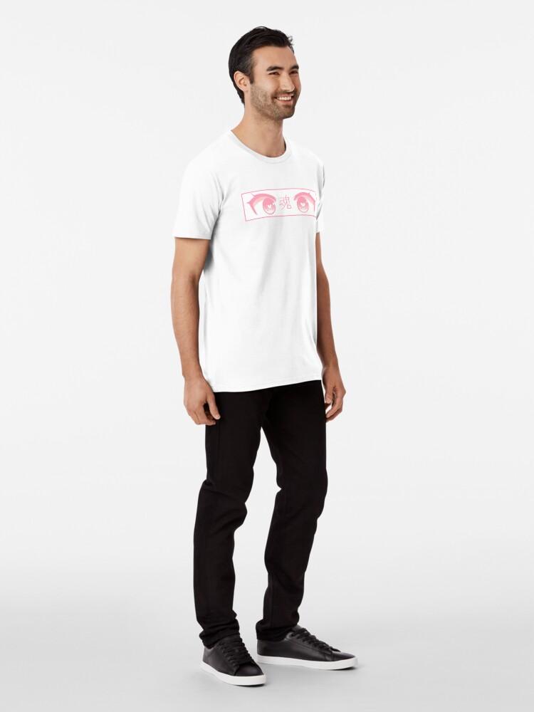 Alternative Ansicht von HERZ-AUGEN (ROSA PASTELL) - trauriges japanisches ästhetisches Premium T-Shirt