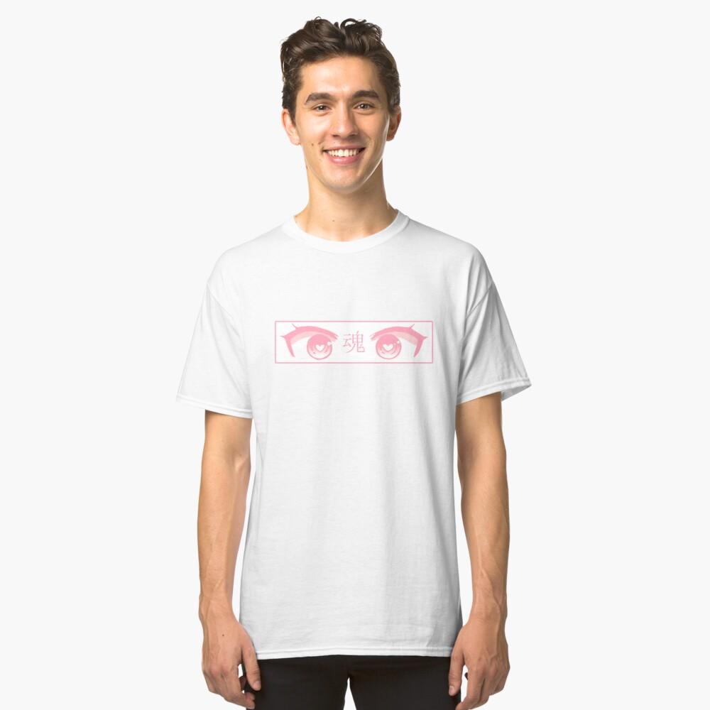 OJOS DEL CORAZÓN (PINK PASTEL) - Triste japonés estético Camiseta clásica
