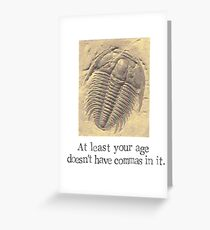 Trilobite Fossil Birthday Card Greeting Card