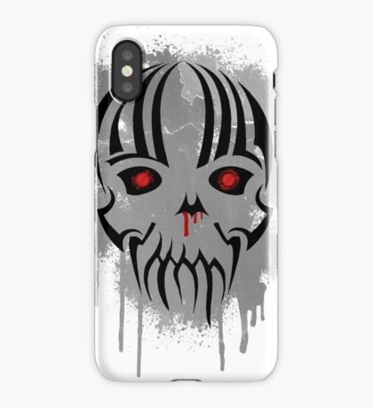 Bleeding Skull - Modern Skull with Blood and Grunge Texture iPhone Case/Skin