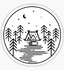 Camping under the stars Sticker