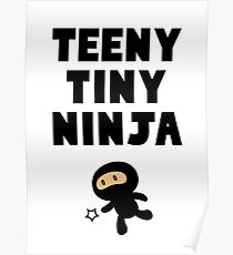 Teeny Tiny Ninja Poster