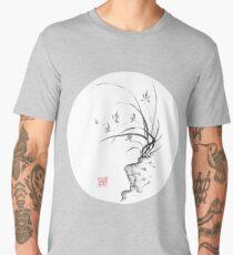 Dancing on the edge sumi-e painting  Men's Premium T-Shirt