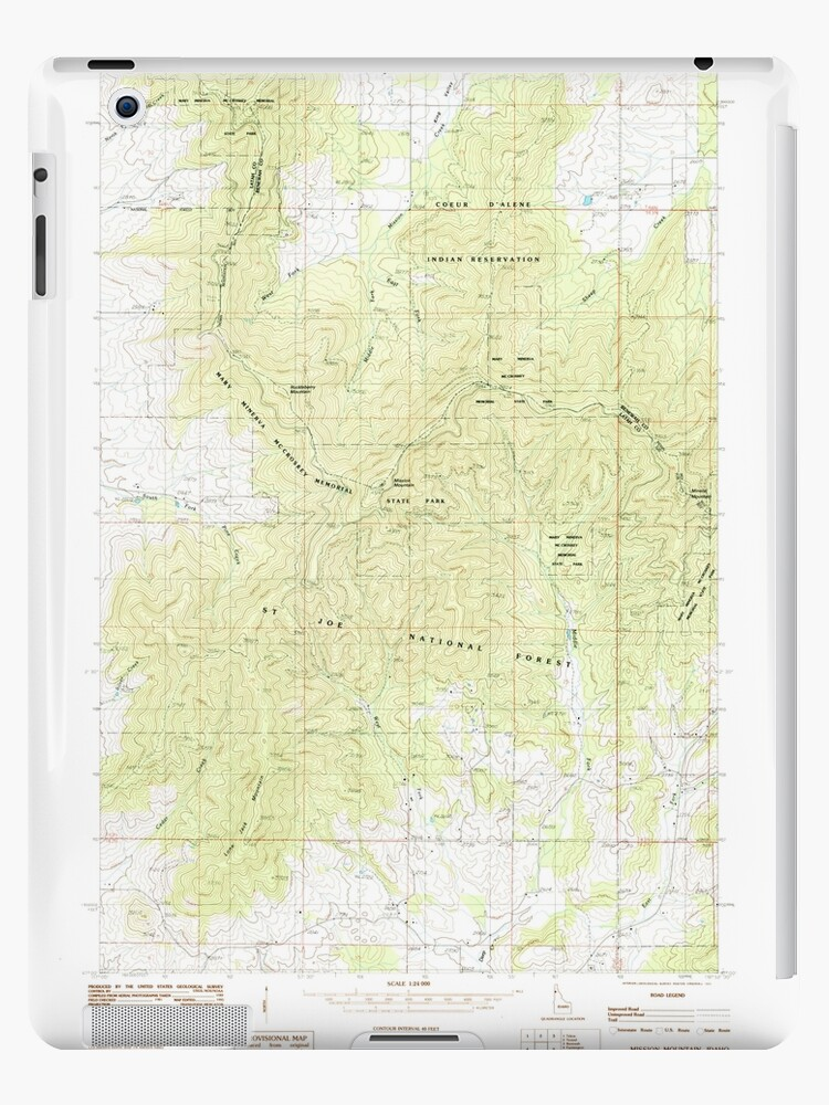 USGS TOPO Map Idaho ID Mission Mountain 237196 1985 24000 by wetdryvac