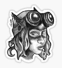 Goggle Girl. Sticker