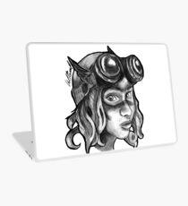 Goggle Girl. Laptop Skin