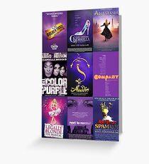 broadway purples! Greeting Card