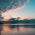 Outrageously Teal and Orange Toronto Sunrise by Georgia Mizuleva