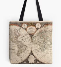Antique New Map of The World 1799 Tote Bag