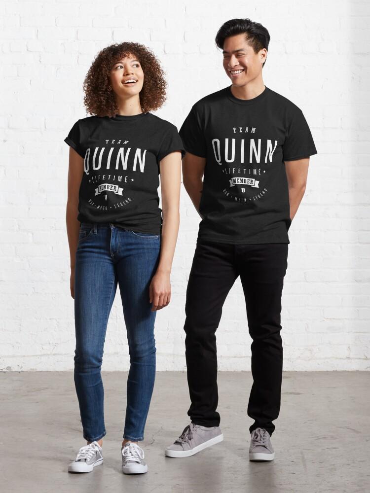 Quinn View More Names Here Standard Unisex T-shirt Team Q Lifetime Member