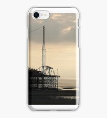 Sunset at the pier iPhone Case/Skin
