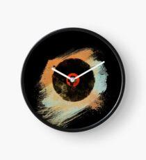 Vinyl Record Retro T-Shirt - Vinyl Records New Grunge Design Clock