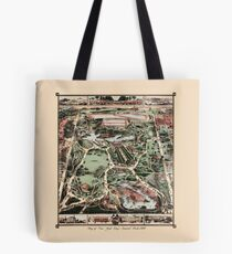 Map Of Central Park, New York 1869 Tote Bag