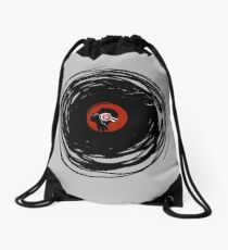 I'm spinning within with a vinyl record... GRUNGE TEXTURE Drawstring Bag