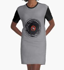I'm spinning within with a vinyl record... Graphic T-Shirt Dress