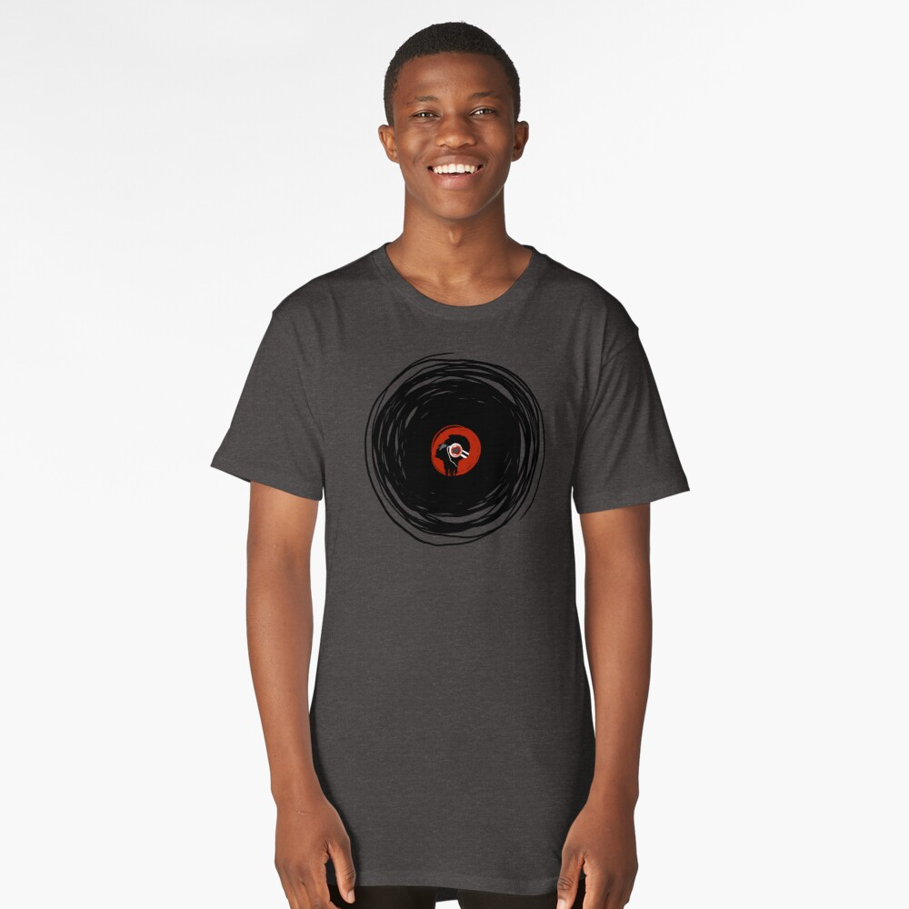 I'm spinning within with a vinyl record... Long T-Shirt Front