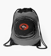 I'm spinning within with a vinyl record... Drawstring Bag