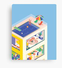ISOMETRIC BUILDING Canvas Print