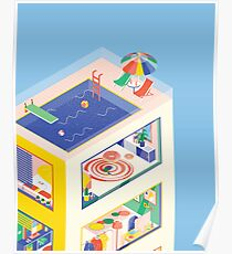 ISOMETRIC BUILDING Poster