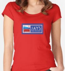 Jays From the Couch Merchandise Women's Fitted Scoop T-Shirt