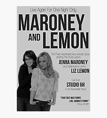 Maroney and Lemon Photographic Print