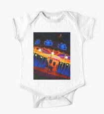 Carousel , Oil Painting bright night carnival creepy scene , Illustration Art Print  Kids Clothes