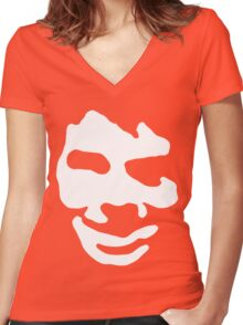 Skeet Faced too Women's Fitted V-Neck T-Shirt