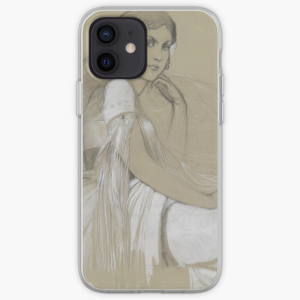 The Artists Daughter Jaroslava Muchova Drawing by Alphonse Mucha iPhone Case & Cover