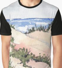 Beach at Zinkwazi Graphic T-Shirt